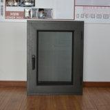 Moustiquaire en aluminium d'acier inoxydable de guichet de tissu pour rideaux de profil de la qualité Kz124 et de tissu pour rideaux