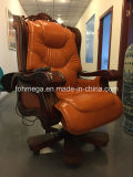 Silla de cuero de lujo de la oficina del estilo clásico (FOH-A01)