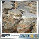 自然な灰色のスレートのFlagstoneの景色の敷石