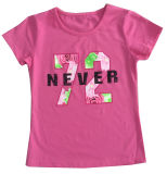 Print Sgt-073를 가진 Children Clothes Apparel에 있는 꽃 Letter Girl T-Shirt
