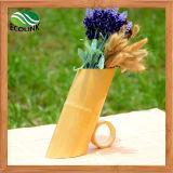 Vaso de flor de bambu Handmade da decoração Home