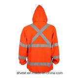 人のための羊毛が付いている中間の長い反射安全スエットシャツ
