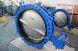 O tipo Nodular do ferro de molde U flangeou válvula de borboleta com ISO Wras do Ce (D41X-10/16)
