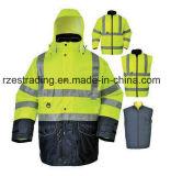 Casacos reflectores de alta visibilidade, vestuário de segurança reflectante