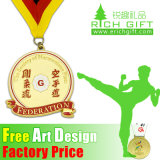 専門のGoldかSilver/Bronze Cheap Custom Martial Arts Medal