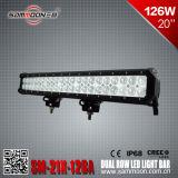 20 guide optique du CREE LED de pouce 126W pour la jeep résistante 4X4 de camion tous terrains (SM-21X-126A)