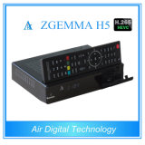 H. 265 decodificador DVB S2 + T2 DVB C Zgemma H5 de DVB