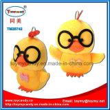 Игрушка привлекательного шаржа животная желтого шкентеля цыпленка стекел плюша