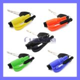 Новое Promotion Gift Color 3 в 1 ремне безопасности Cut Knife Mini Keychain Escape Tool Car Auto Window Breaker Whistle (1126)