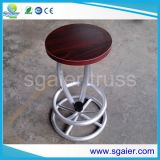 Tabela de alumínio do fardo, tamborete Quatro, mesa redonda de alumínio