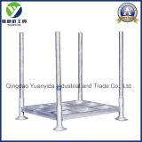 2017 galvanisiertes Zink-stapelbare und zusammenklappbare Stahlpfosten-Ladeplatten-Zahnstangen