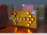 [15بكس] مصباح أصفر يبرق [لد] ألومنيوم [ترفّيك سن] لوح