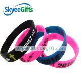 Wristband personalizzato del silicone con il marchio Debossed o stampato