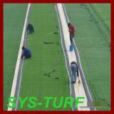 Gramado artificial da grama da forma da espinha do monofilamento do futebol do futebol