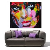 Покрашенный вручную картина маслом Modern Figure Palette Knife Wall Art Decor Abstract Portrait Pop на Canvas