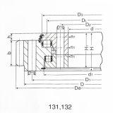 Большой Turntable Slewing машины PC120-6 Komatsupc подшипников Slew Поляк 3-Рядка (4D95)