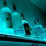 Sostenedor con estilo del vino, visualización de acrílico del estallido LED para el vino