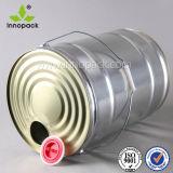 18L personalizzato intorno all'olio del barilotto dello stagno può con la protezione della pressa e la maniglia del metallo