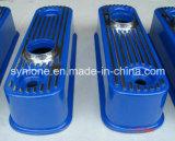 Druckguss-Aluminiumdeckel mit angestrichenem Blau