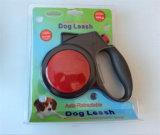 Trela leve super do cão do diodo emissor de luz, trela retrátil do cão do diodo emissor de luz
