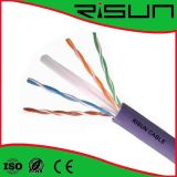 CE, RoHS, câble LAN CAT6 de cuivre de solide d'OIN UTP/brin
