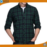 Camicia casuale sottile del tasto della camicia di vestito da misura del manicotto lungo del Mens nuova