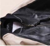 Revestimentos de couro feitos sob encomenda do basebol das senhoras - o inverno terminou o revestimento de couro genuíno do couro cru do cordeiro para mulheres