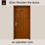 Дверь кожи Sapelli деревянная пожаробезопасная