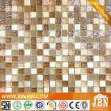 Emperador Marble、Convex GlossyおよびFrosted Glass Mosaic (M815057)