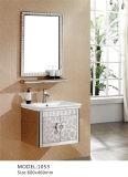 Шкаф ванной комнаты нержавеющей стали круглого зеркала эллипсиса серый