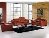 本革が付いている現代居間の家具の革ソファー