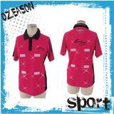 Chemise de polo courte estampée par coutume de chemise, T-shirt de polo