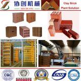 Feito no tijolo da argila de China que faz a maquinaria