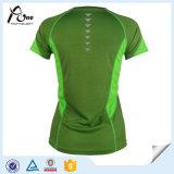 Usure réversible pulsante sexy de sports de T-shirt d'usure de femmes