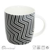 Nuova tazza in bianco e nero classica di Cina di osso