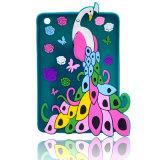 Tampa do telefone móvel dos desenhos animados do silicone do pavão para o caso do iPhone 6s/6plus (XSDW-018)