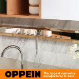 Da estratificação branca moderna do plano de Oppein armário de madeira modular da cozinha (OP15-038)