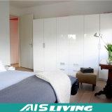 純粋で白く光沢度の高い現代平らなドアのワードローブの戸棚(AIS-W016)