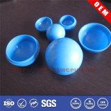 青いカラープラスチック球2部分の