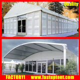 Gewölbtes Zelt-industrielle Hochzeits-Glaszelt für Ereignis mit Celining und drapiert