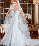 Vestido 2016 de casamento nupcial do laço da forma da noite do baile de finalistas (WD1601)