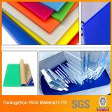 La publicité du panneau acrylique de plastique acrylique de la couleur PMMA de feuille