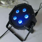 O OEM presta serviços de manutenção ao diodo emissor de luz plástico PAR64 da carcaça de 5X10W RGBW