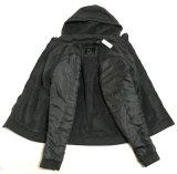 Revestimento do aquecedor do homem de Hoody, boa qualidade, revestimento longo do preto da luva, revestimento americano