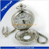 De quartzo clássico do projeto do estilo do vintage relógio Pocket