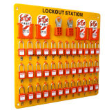 Plastiksicherheits-Vorhängeschloß mit Hauptschlüssel