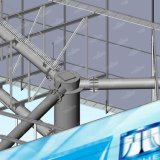Света пятна рамки Gavanized 3-Сторон афиша Hot-DIP стальная рекламируя