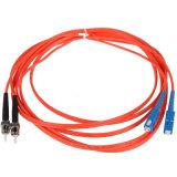 Шнур 1m оптического волокна LC-Sc двухшпиндельный Om3 Om4 2.0mm высокого качества