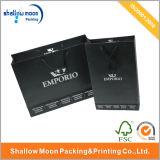 Emboutissant le sac à provisions argenté de noir de logo (QYZ064)