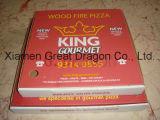 Blanc extérieur et cadre intérieur normal/de Papier d'emballage pizza (pizza--058)